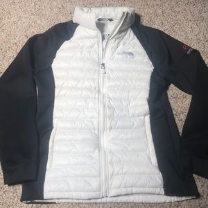 North face women's summit series puffer white